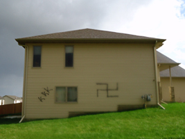 Ayan Hilowle's family's Rochester house was targeted by vandals this week. The Minnesota chapter of the Council on American-Islamic Relations is asking the FBI to investigate the graffiti as a hate crime. (Photo courtesy Ayan Hilowle)